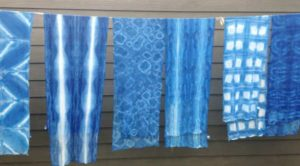 Various examples of Indigo Dyeing by Carol Reed