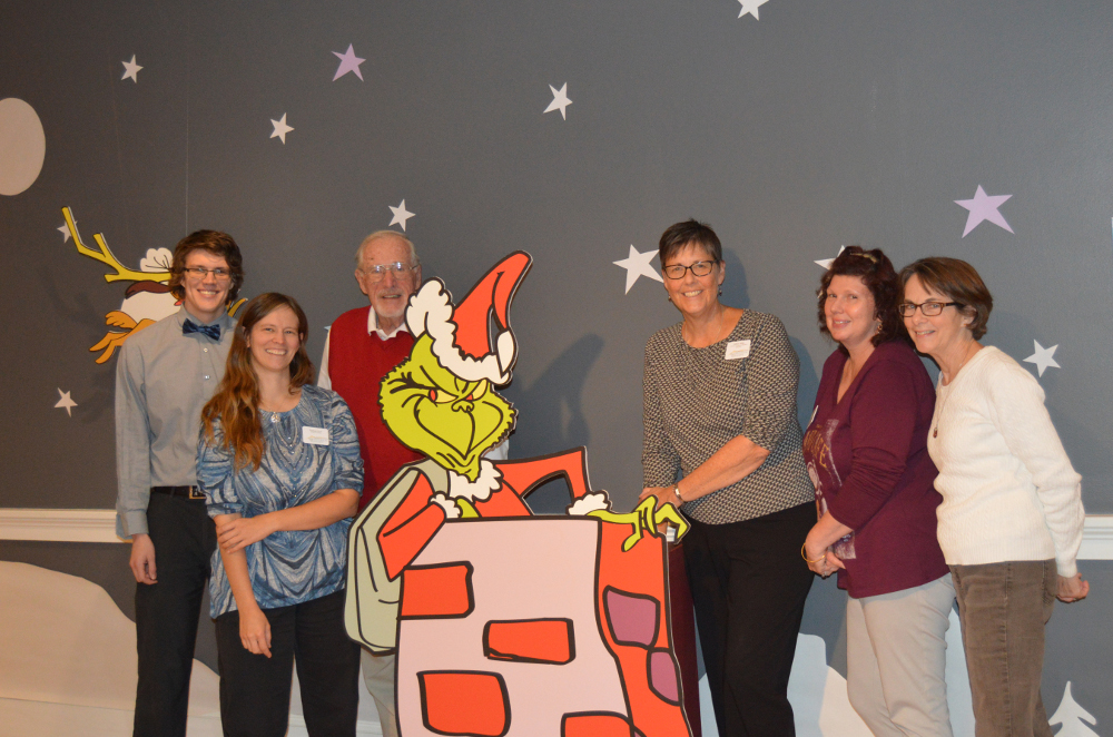 Staff and Novembers with the Grinch