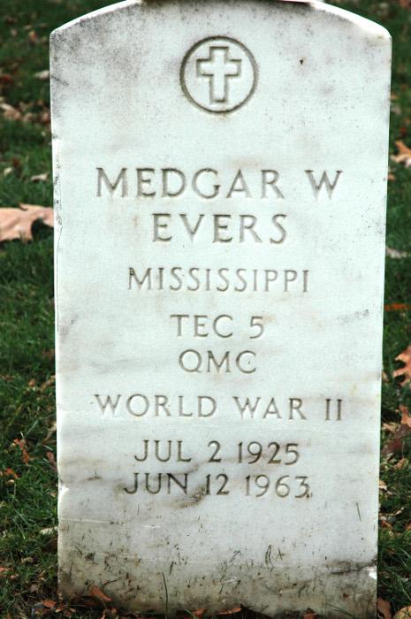 Tombstone of Medgar Evars