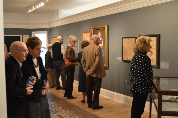 Exhibit visitors in Kramer Gallery