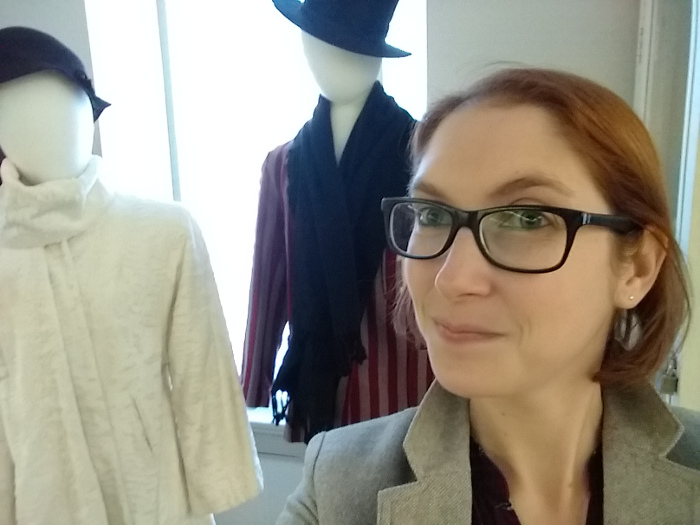 Selfie with Christmas exhibit