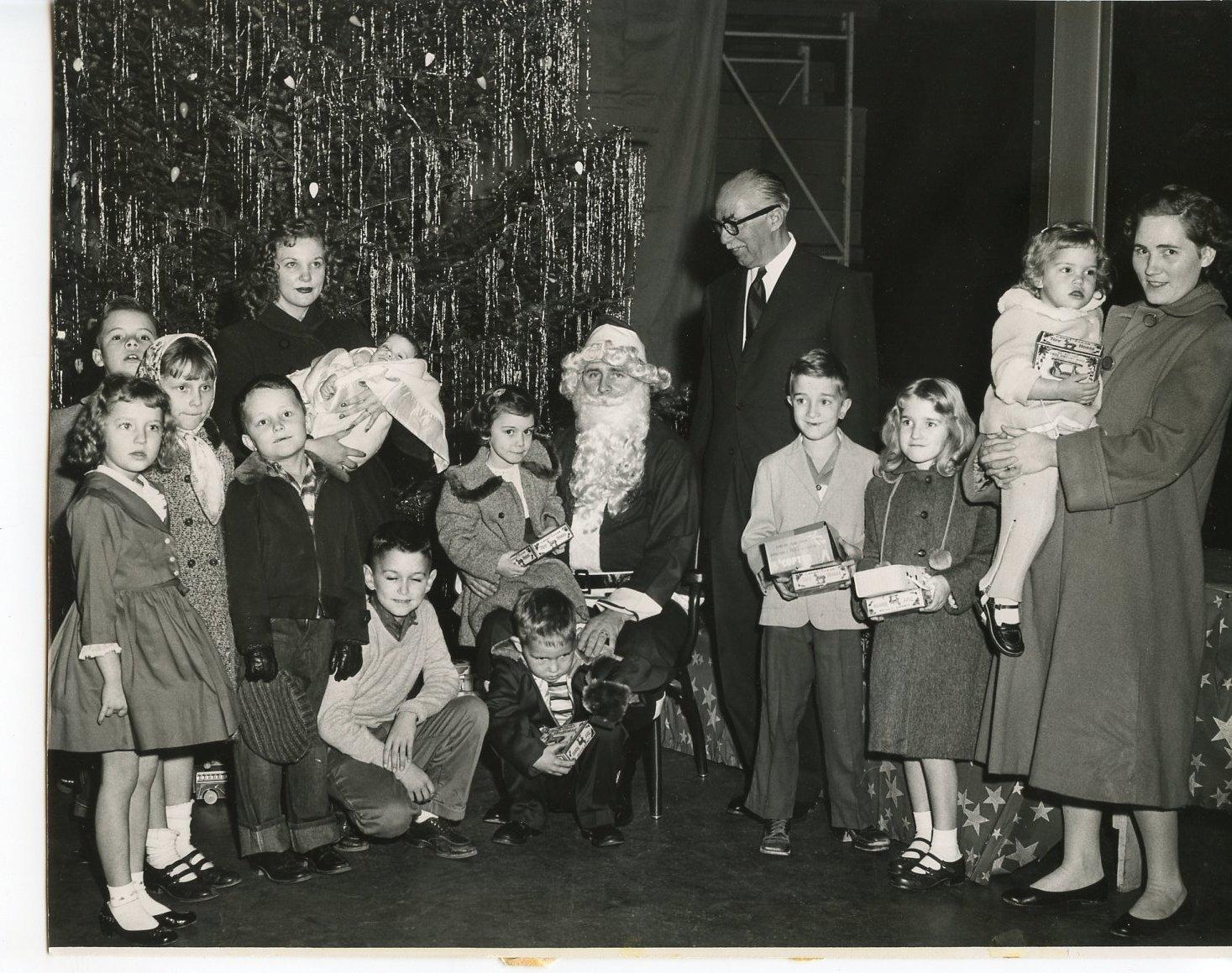 Group with Santa